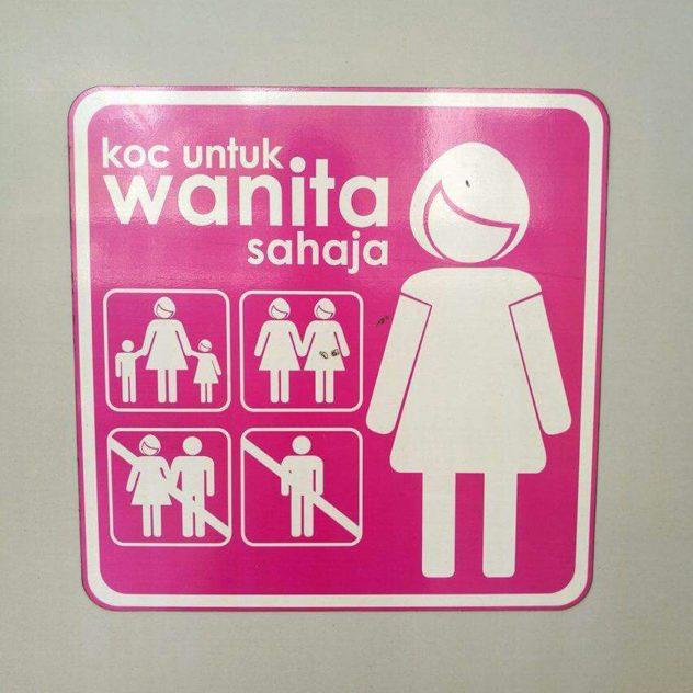 """""""coach for ladies only"""" - eigenes Zugabteil für Damen in Kuala Lumpur"""