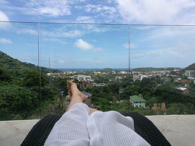 Ausblick zum Meer von meinem Balkon