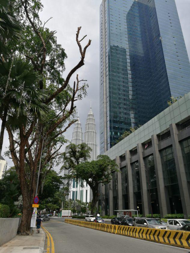 die Straßen sind so schön grün - Blick zu den Twin Towers