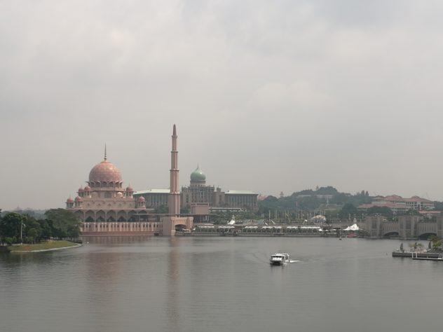 Ausblick zur Putra-Moschee und dem Premierminister-Amtsitz