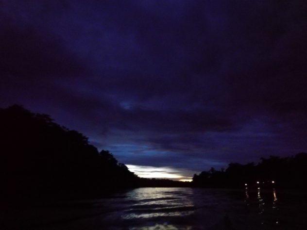 innerhalb kürzester Zeit ist es dunkel...