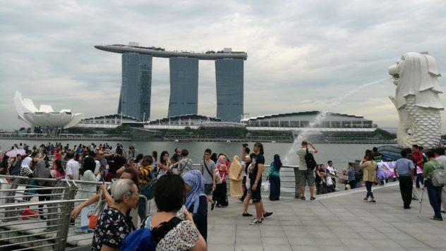 viele Touristen und jeder will das perfekte Foto aufnehmen