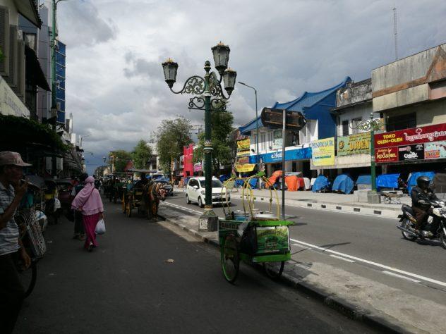 Kutschen und Rikschas sind normales Straßenbild