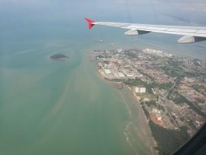 Kurz vor der Landung in Kuala Lumpur